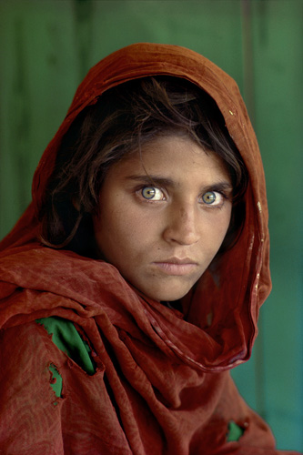 The green-eyed Afghan girl became a symbol in the late twentieth century of strength in the face of hardship. Her tattered robe and dirt-smudged face have summoned compassion from around the world; and her beauty has been unforgettable. The clear, strong
