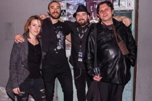 Fabrizio Giosuè con il sottoscritto e altri amici al Traffic di Roma