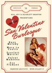 IL SAN VALENTINO BURLESQUE DEL KILL JOY