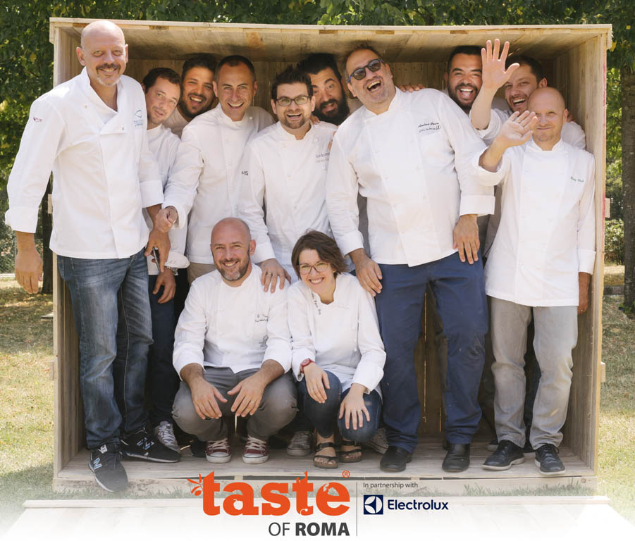 Il gruppo degli Chef presenti al Taste of Roma 2016 al completo