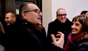 Presenti all'evento il poeta Claudio Damiani, gli artisti Giuseppe Salvatori  e Gianfranco Notargiacomo.